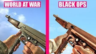 Call of Duty World At War Gun Sounds vs Call of Duty Black Ops