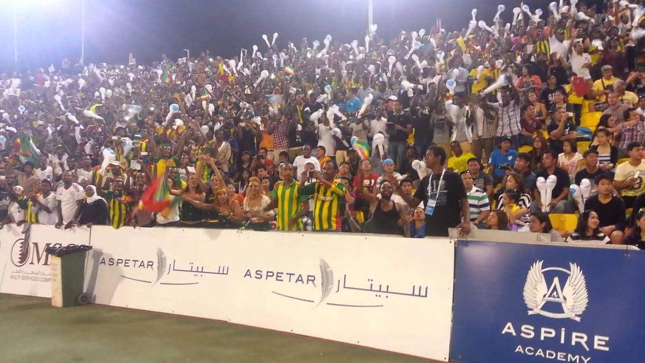 Teddy Afro Qatar at IAAF Diamond League opening ceremony