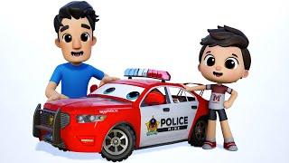 Little Aaron had a Truck | Fire Truck Song | School Bus Cartoon #appMink Kids Song & Nursery Rhymes