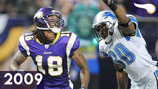 Favre & Rice are Precise - Lions vs. Vikings (Week 10, 2009) Classic Highlights
