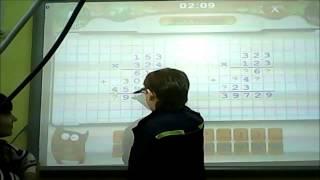 """Фрагмент урока математики """"Тренируемся с """"Академией младшего школьника"""" (4 класс)"""