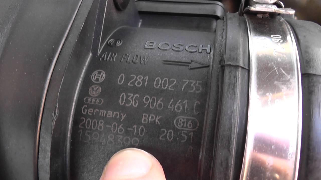 Audi A4 B8 MAF Sensor Location 2008 to 2015 - YouTube
