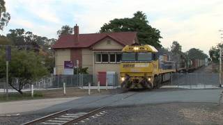 Pacific National Container train at Violet Town.  Sat 30/04/11