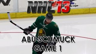 NHL 13: Abu Schmuck - Player Creation and First Full Game - Episode 1