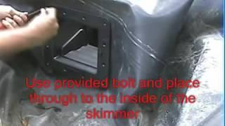 Установка прудового скиммера(Посмотрите демонстрацию установки прудового скиммера в пруд с ЭПДМ мембраной. Заходите на наш сайт http://www.kap..., 2016-08-09T10:58:05.000Z)