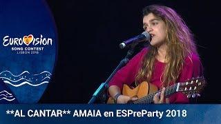 Amaia canta 'Al Cantar' en ESPreParty 2018 | Eurovisión 2018