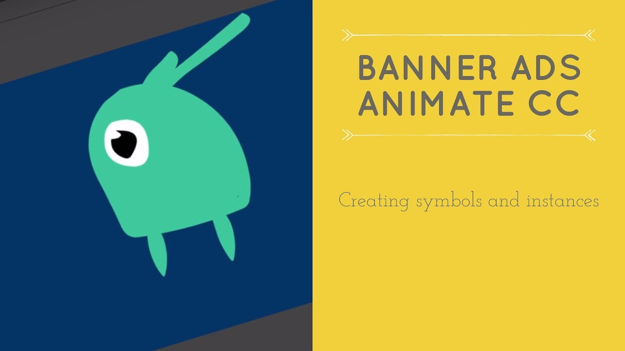 Creating symbols and instances in Adobe Animate - HTML5 Banner Ads in Adobe Animate [19/53]