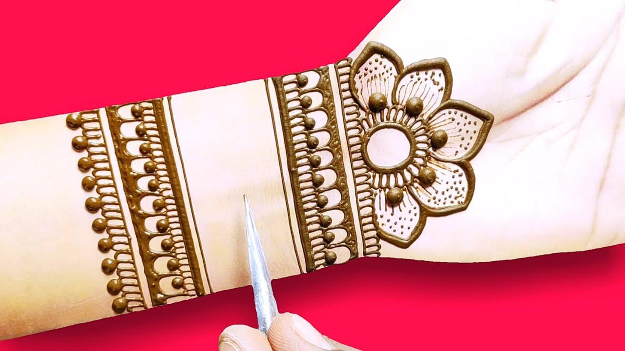 latest front hand mehndi design-Arabic beautiful Henna mehndi design-वट पूर्णिमा स्पेशल मेहंदी डिजाइ