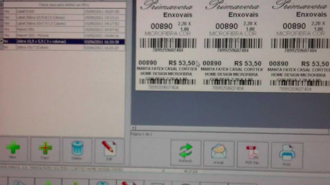 Como Imprimir Etiquetas De Codigo De Barras Impressora