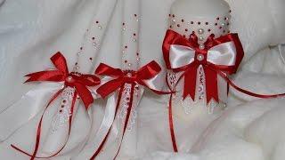"""Свадебные свечи для обряда """"семейный очаг"""" своими руками МАСТЕР-КЛАСС"""