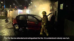 Car fire at Asda Enniskillen