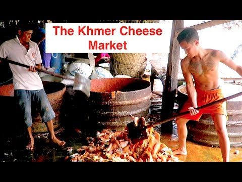 The Khmer Cheese Market - Prahok Market Battambng Province - Salty Fish Paste Business Cambodia