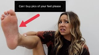 reacting to DIRTY comments about my FEET
