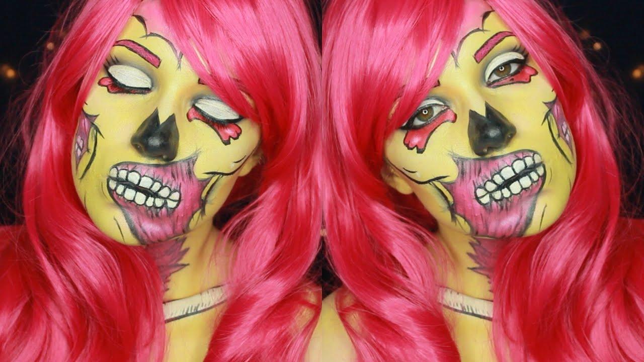 maquillage halloween pop art zombie youtube. Black Bedroom Furniture Sets. Home Design Ideas