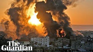 Israel Gaza violence flattened buildings rockets and communal unrest