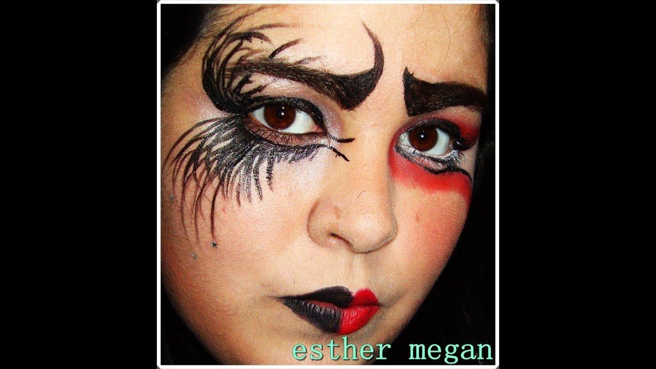 maquillaje carnaval angel caido demonio youtube