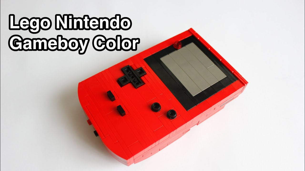 Nintendo game boy color youtube - Lego Nintendo Gameboy Color With Instructions