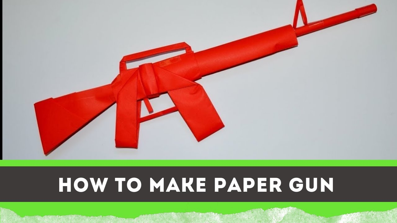 How To Make Paper Guns - Paper Weapons- Origami Crafts 😲