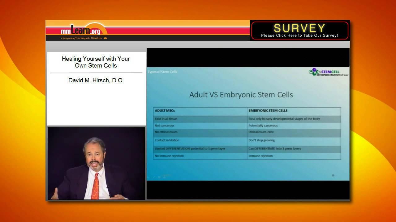 Adult stem cells versus embryonic