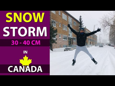 30 To 40cm Snow Storm In Montreal , Quebec , Canada (Kataria TV)