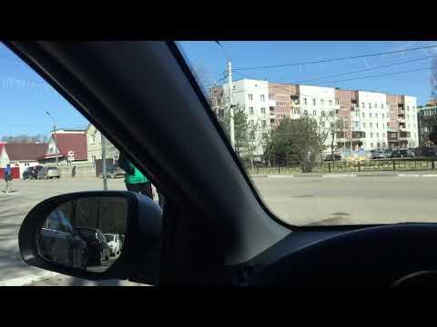 Центр Кировска (Ленинградская область). ...Еду на машине... 23.04.2018, 10:40
