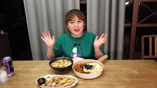맛있게 익은 파김치 스팸볶음밥과 용가리치킨, 꼬마돈까스…