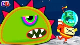 Приключение ИНОПЛАНЕТНОЙ СЛИЗИ на ЛУНЕ! Мультяшная игра Tales from Space Mutant Blobs Attack