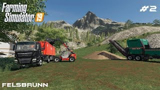 Making and selling wood chips | Forestry on Felsbrunn | Farming Simulator 19 | Episode 2