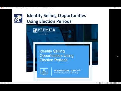 Identify Medicare Selling Opportunities - Using Election Periods