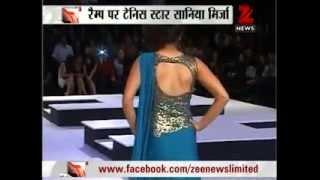 Zee News : Hot & Sexy Sania Mirza burns the RAMP for Shantanu & Nikhil