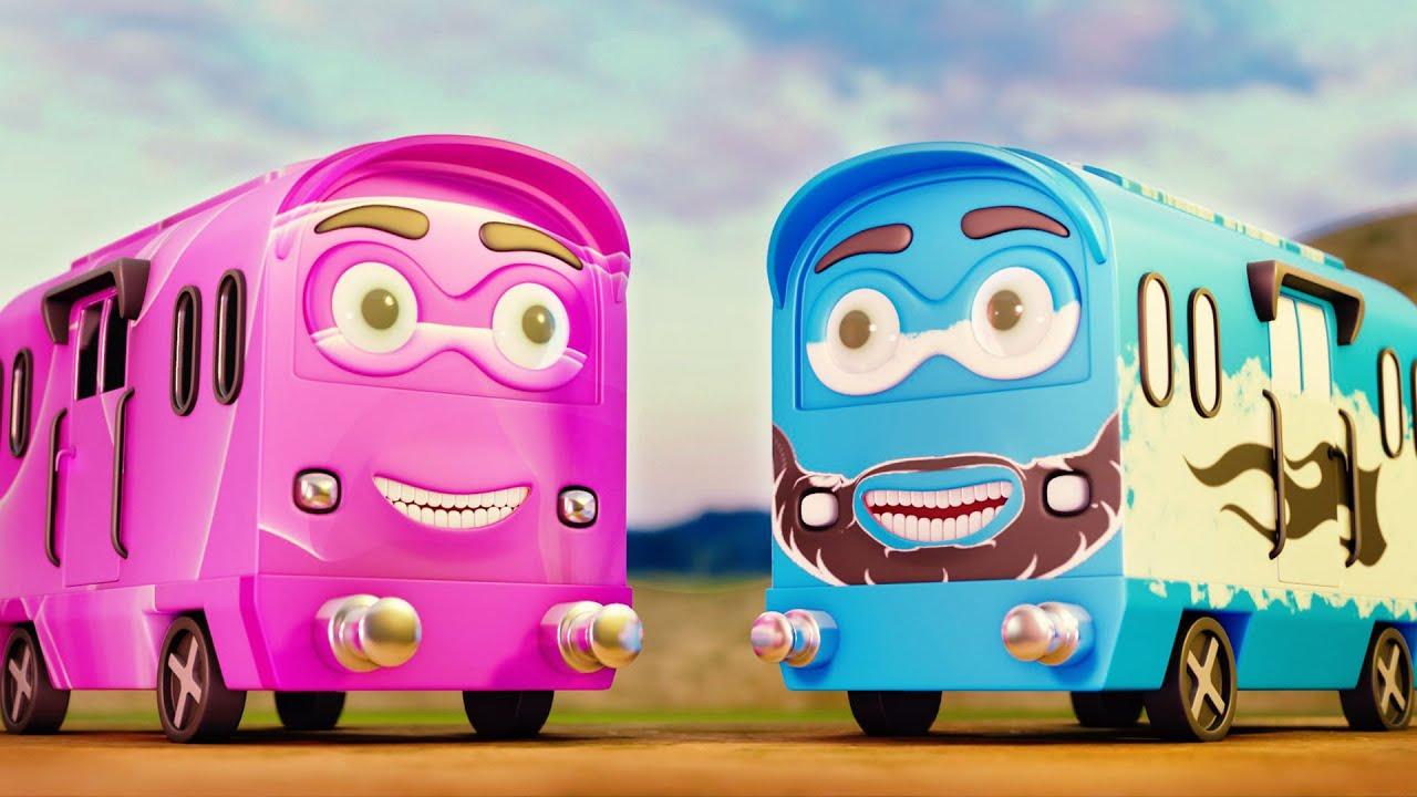 Trains Want to cross but CAN'T😡 - train funny cartoon movie - choo choo train kids videos