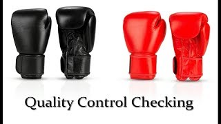 quality control checking of andr sports boxing gloves