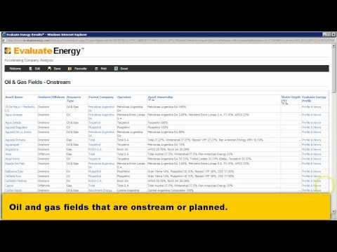 Evaluate Energy Assets Database