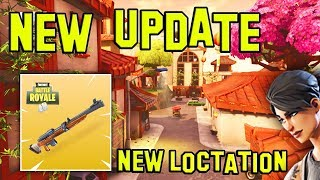 NEW FORTNITE UPDATE! New Location, Hunting Rifle, More! (Patch Notes) (Fortnite Battle Royale)