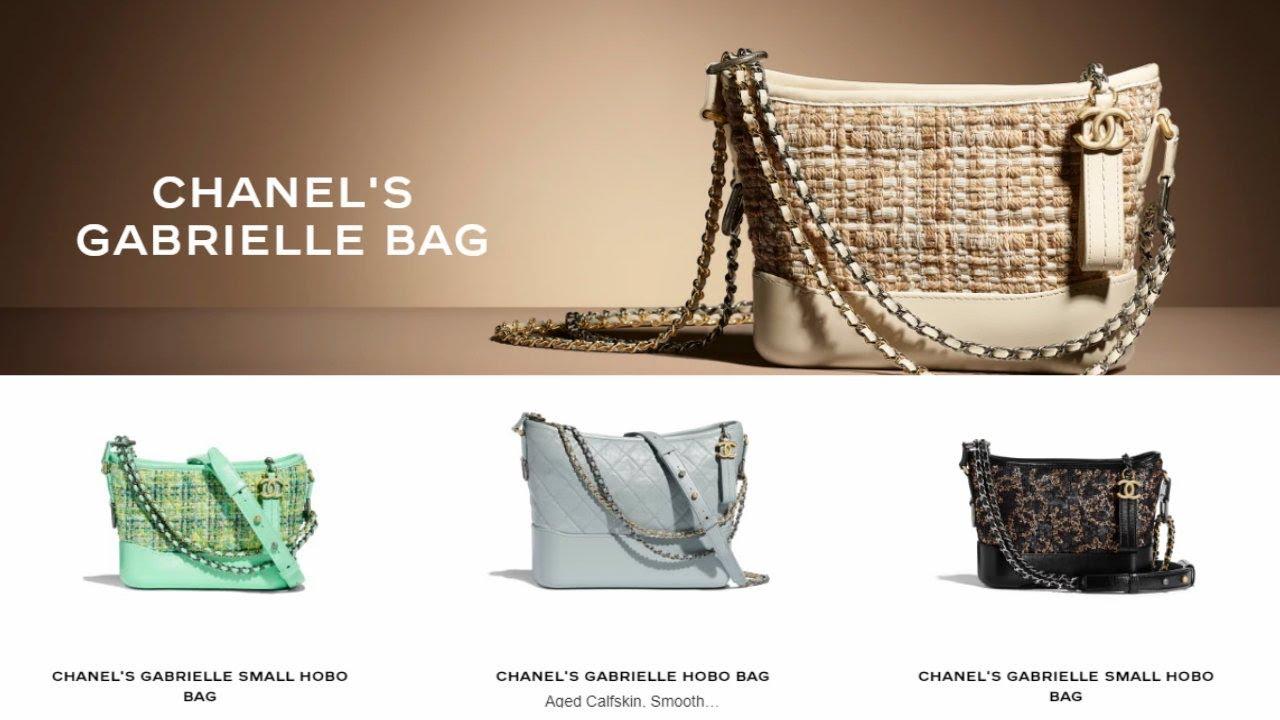 f1dc5d6cc4040b Chanel's Gabrielle Bag 2019 - YouTube