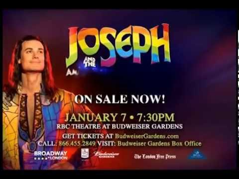 Joseph And The Amazing Technicolor Dreamcoat Coming To Budweiser Gardens Jan 7 2016 Youtube