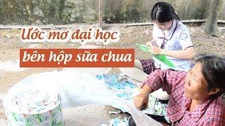 Nữ sinh nghèo tách vỏ hộp sữa chua nuôi ước mơ vào đại học