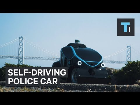 Self-driving police car being deployed in Dubai