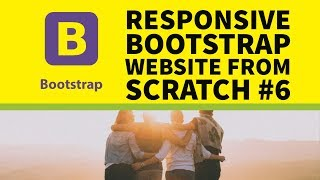 How to Build a Responsive Bootstrap Website From Scratch Part 6 - Final website Demo