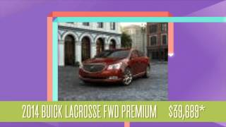 View Buick's Lineup of Stylish 2014 Luxury Cars, Crossovers, SUVS and Sedans!