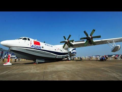 China-made amphibious aircraft AG600 makes first flight