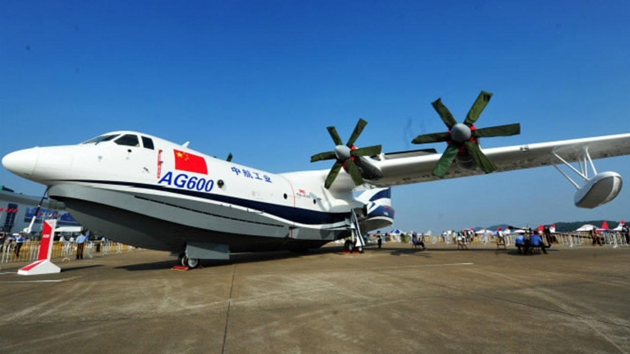 China-made amphibious aircraft AG600 makes first flight
