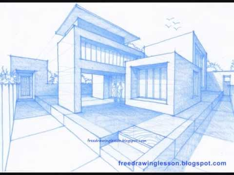 How to draw a house youtube for Tipos de arte arquitectonico