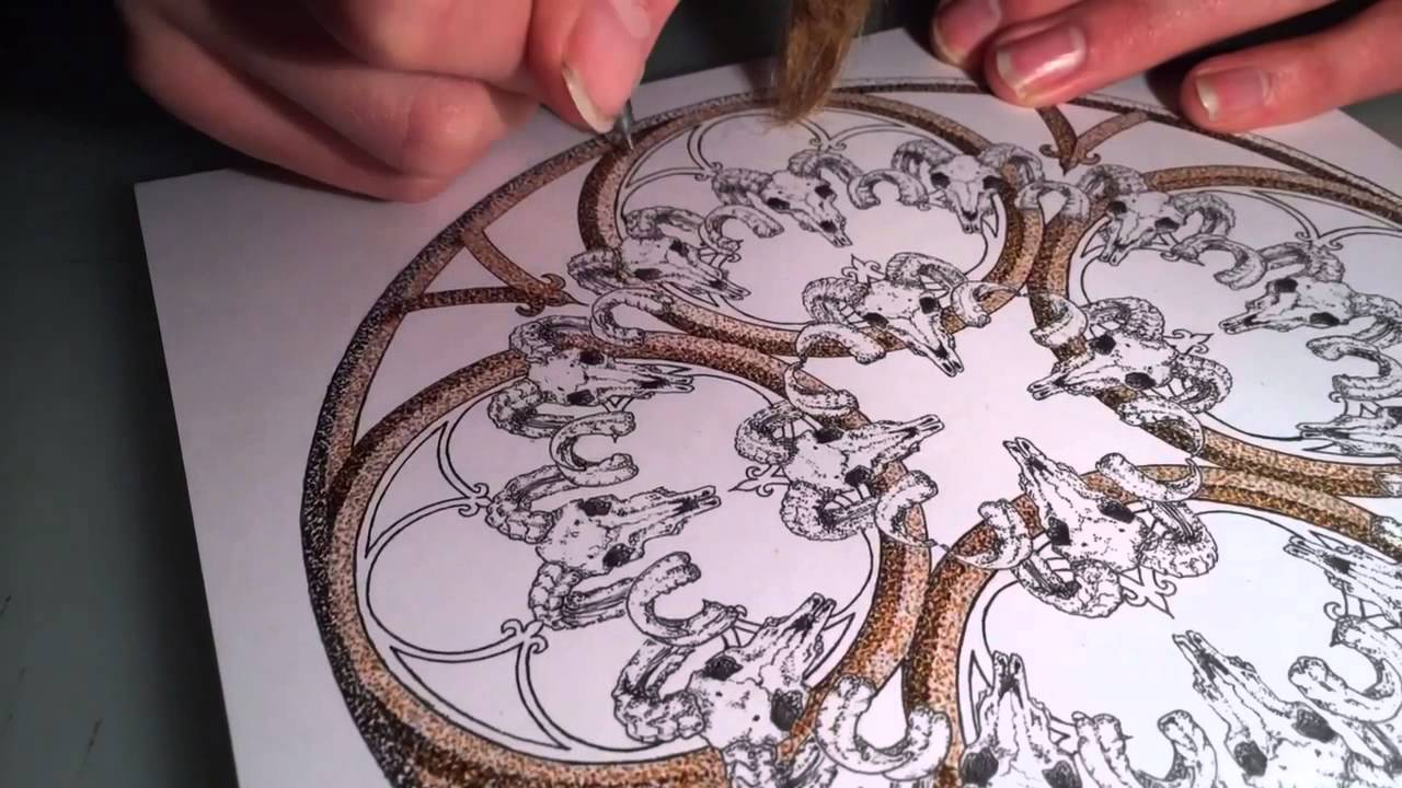 Cathedral Window Time Lapse Drawing