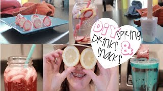 DIY Spring Drinks and Snacks!