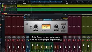 PreSonus Fat Channel Plug-in Demo: Tube Comp