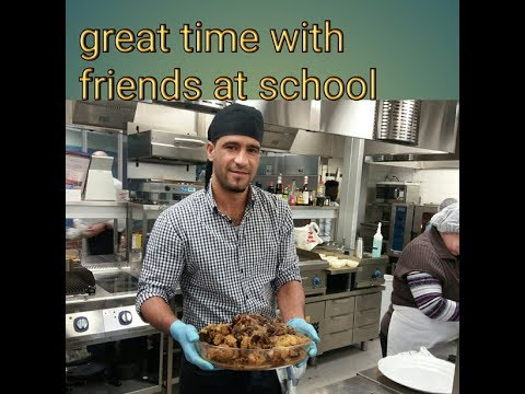 From finland .great time for cooking with friends school from different countries