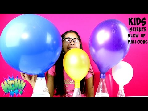 Kids Science Experiments Balloon Blow Up With Baking Soda and Vinegar|B2cutecupcakes