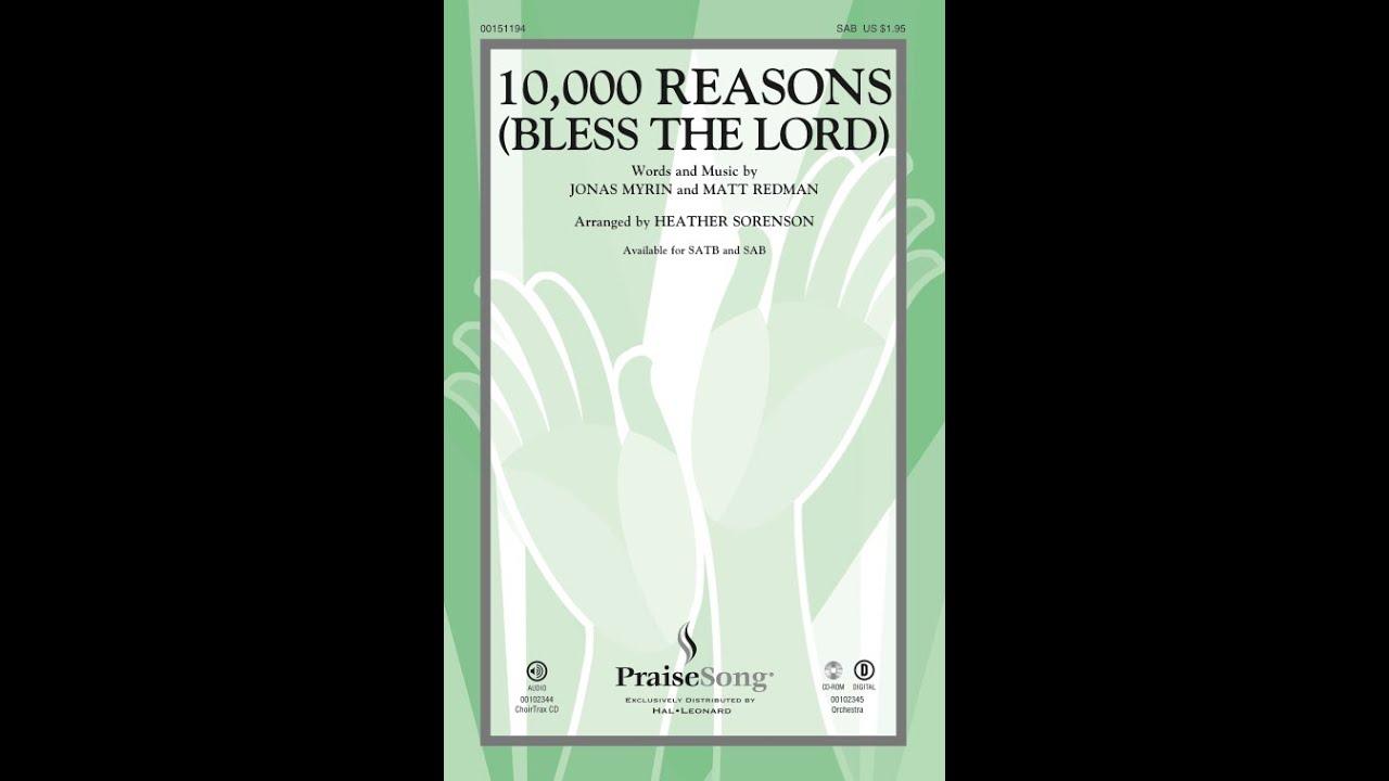 10,000 REASONS (BLESS THE LORD) (SAB Choir) - Matt Redman/arr  Heather  Sorenson