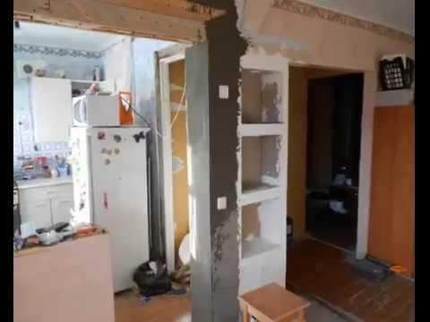 видео: Прячем холодильник в кухне, дизайн кухни 5,5 км\м